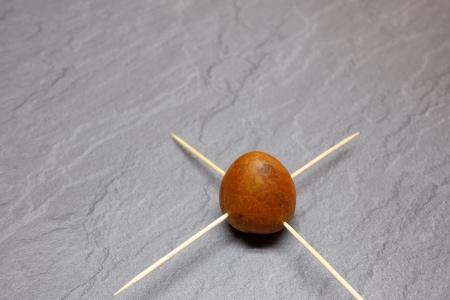 Avocado Kern mit Zahnstocher